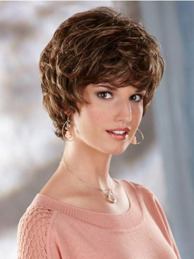 Traditiona Brown Wavy Short Classic Wigs