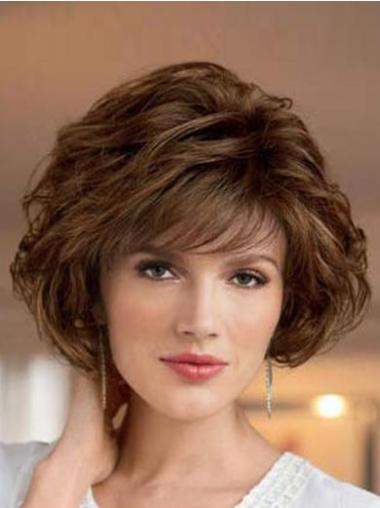 Easy Brown Wavy Short Classic Wigs