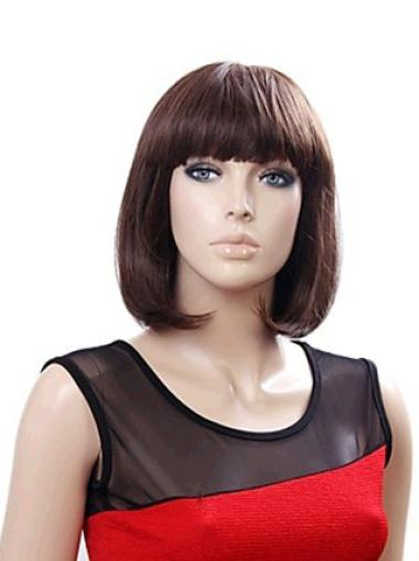 Auburn Straight Synthetic Glamorous Medium Wigs