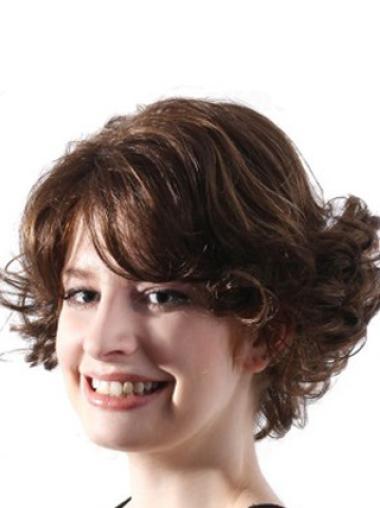 Brown Layered Wavy Faddish Lace Wigs