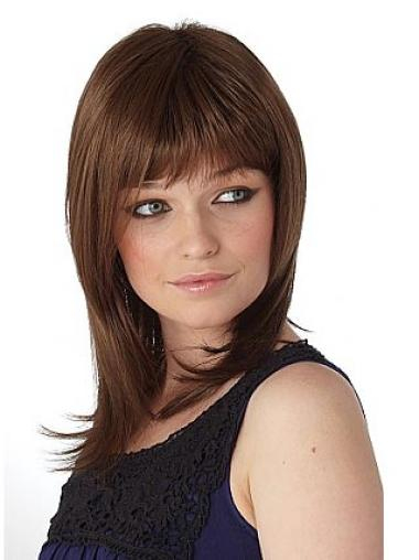 Impressive Auburn Straight Shoulder Length Synthetic Wigs