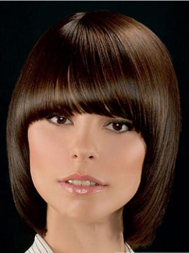 Brown Bobs Straight Convenient Lace Wigs