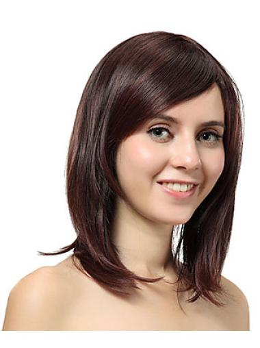 Designed Auburn Straight Shoulder Length Synthetic Wigs
