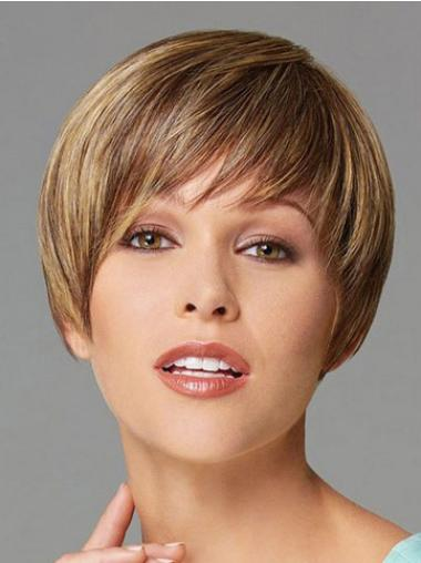 Cosy Blonde Straight Cropped Synthetic Wigs
