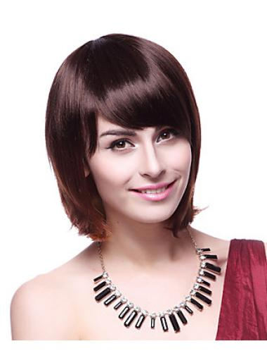 High Quality Auburn Straight Chin Length Synthetic Wigs