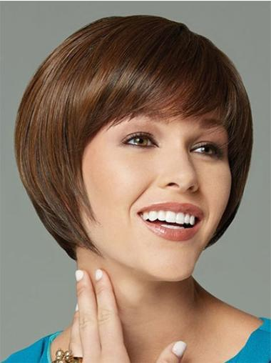Braw Brown Straight Short Synthetic Wigs