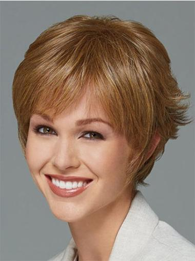 Style Straight Blonde Short Synthetic Wigs