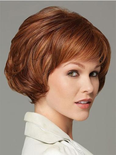 Gorgeous Auburn Wavy Short Classic Wigs