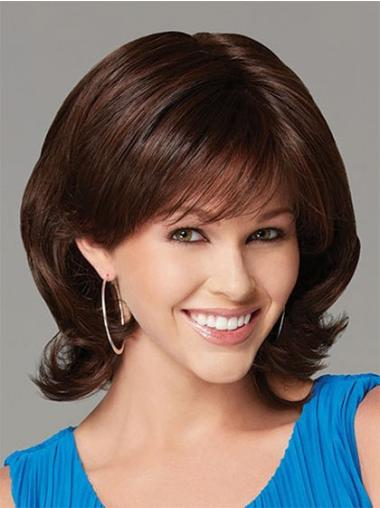 Tempting Auburn Wavy Chin Length Synthetic Wigs