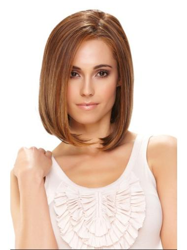 Monofilament Brown Straight Suitable Medium Wigs