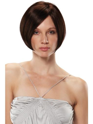 Monofilament Auburn Straight Ideal Synthetic Wigs