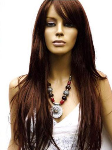 Lace Front Auburn Straight Easy Human Hair Lace Front Wigs