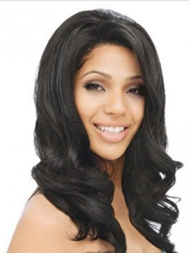 Lace Front Black Wavy Beautiful Human Hair Lace Front Wigs