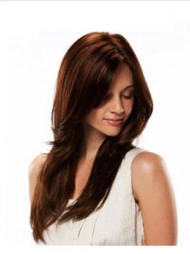 High Quality Auburn Straight Long Glueless Full Lace Wigs