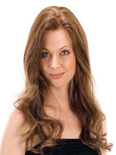 Cheapest Brown Wavy Long 100% Hand-tied Wigs