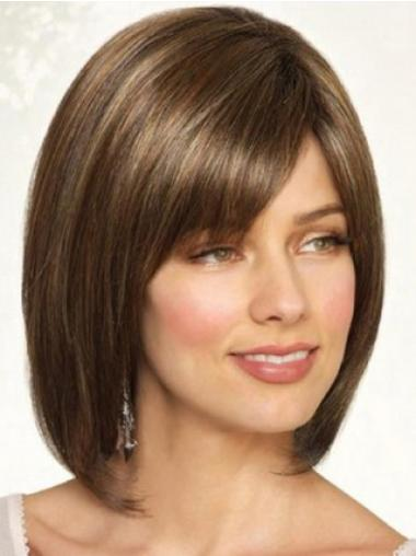 Radiant Brown Straight Synthetic Bob Wigs