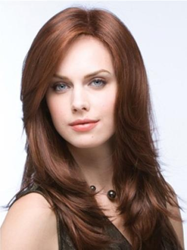 Comfortable Auburn Straight Long Synthetic Wigs