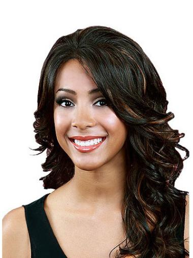 Style Black Wavy Long Lace Front Wigs