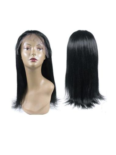Faddish Black Straight Long Full Lace Wigs