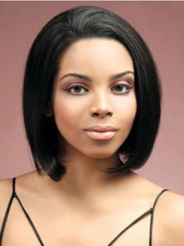 Lace Front Black Straight Affordable Human Hair Wigs