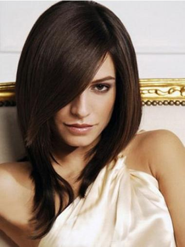 Amazing Brown Straight Shoulder Length Synthetic Wigs