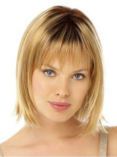Fabulous Blonde Straight Chin Length Lace Front Wigs