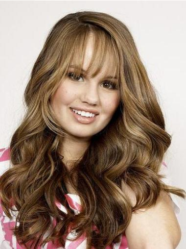 Lace Front Brown Wavy New Human Hair Lace Front Wigs