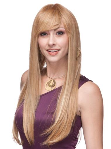 Monofilament Blonde Straight Fabulous Long Wigs