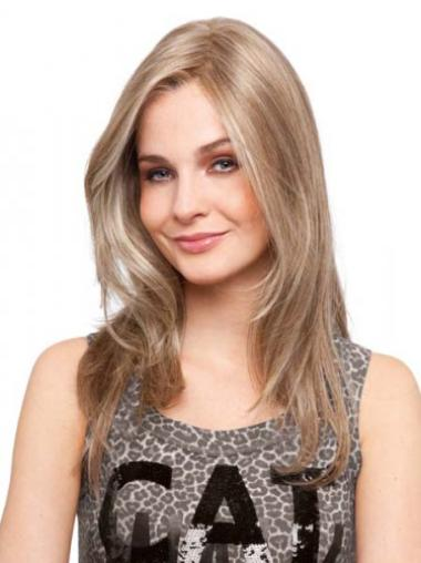 Monofilament Blonde Straight Cosy Human Hair Lace Front Wigs