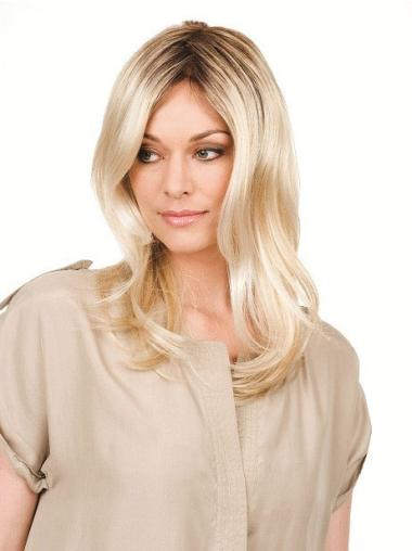Discount Blonde Wavy Long Lace Front Wigs