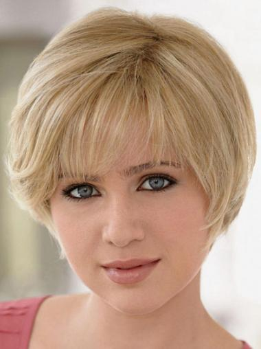 Monofilament Blonde Straight Affordable Human Hair Lace Front Wigs