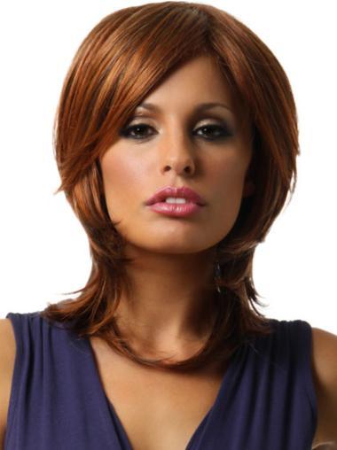 Lace Front Auburn Straight Polite Wigs