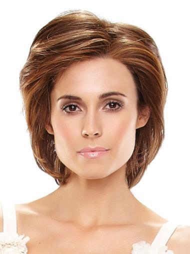 Natural Auburn Straight Chin Length Wigs
