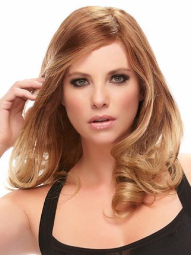 Monofilament Auburn Wavy Cheapest Human Hair Lace Front Wigs