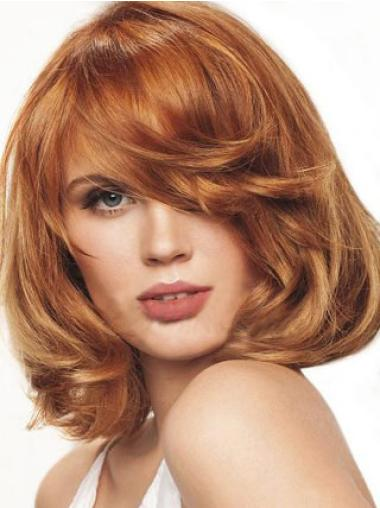 Monofilament Auburn Wavy High Quality Lace Front Wigs