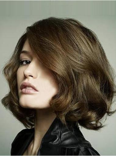 Lace Front Brown Wavy Incredible Bob Wigs