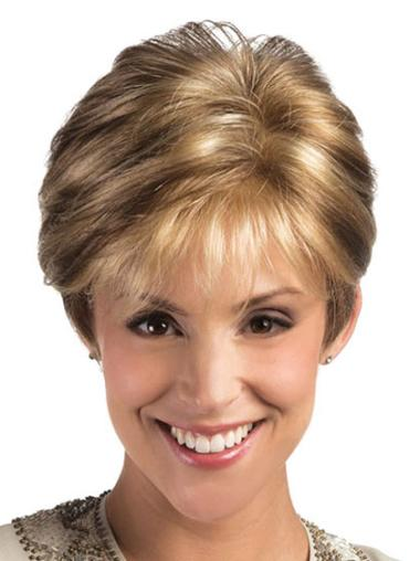 Lace Front Blonde Straight Glamorous Short Wigs