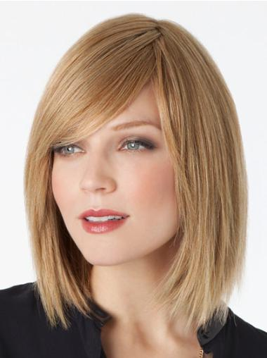 Lace Front Blonde Straight Faddish Remy Human Lace Wigs