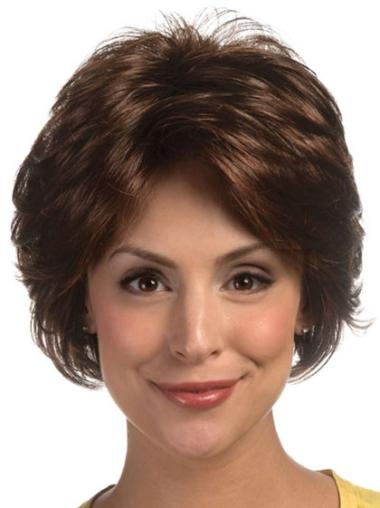 Lace Front Brown Wavy Stylish Classic Wigs