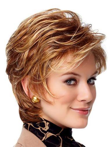 Monofilament Auburn Wavy Fabulous Wigs
