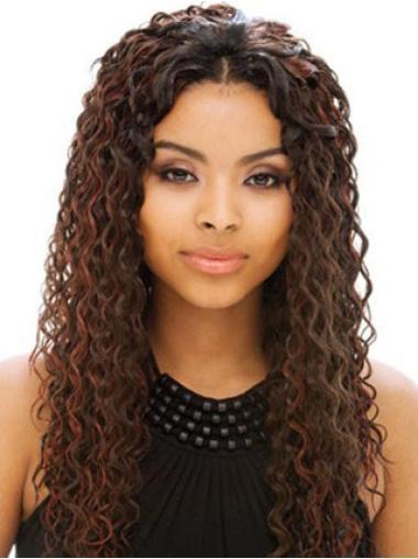 Incredible Auburn Curly Long Human Hair Full Lace Wigs