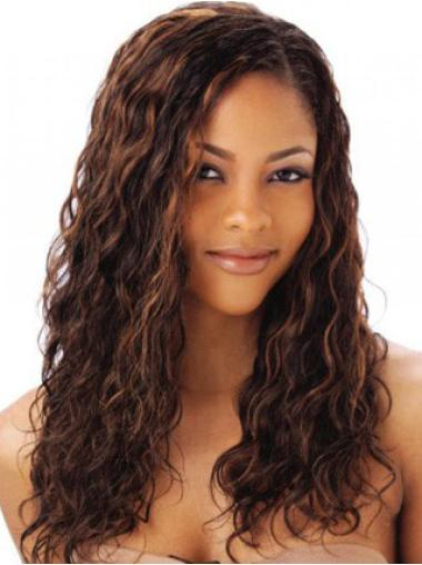 Elegant Auburn Wavy Long Human Hair Full Lace Wigs