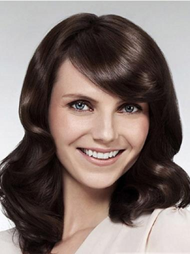 Cheapest Lace Front Wavy Brown Long Wigs