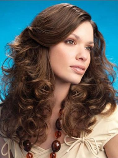 Easy Lace Front Curly Brown Long Wigs