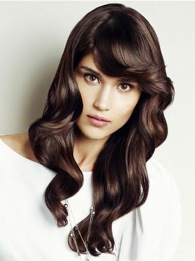 Natural Auburn Wavy Long Lace Front Wigs