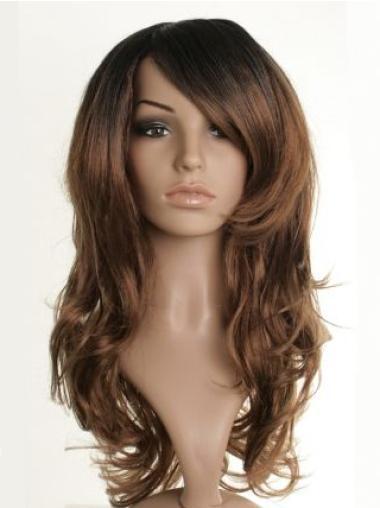 Unique Brown Wavy Long Celebrity Wigs