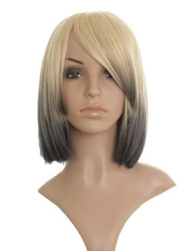 Popular Straight Blonde Chin Length Celebrity Wigs