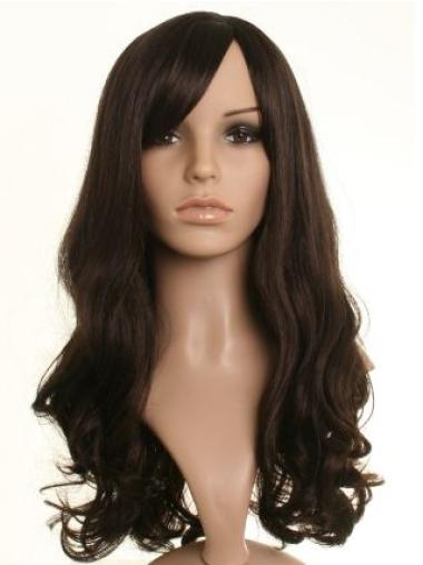 Cheap Brown Wavy Long Celebrity Wigs