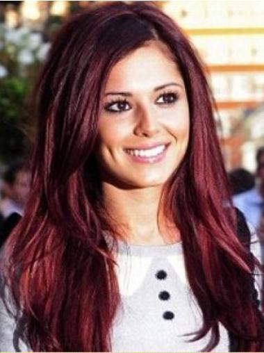 Fashion Red Straight Long Cheryl Cole Wigs