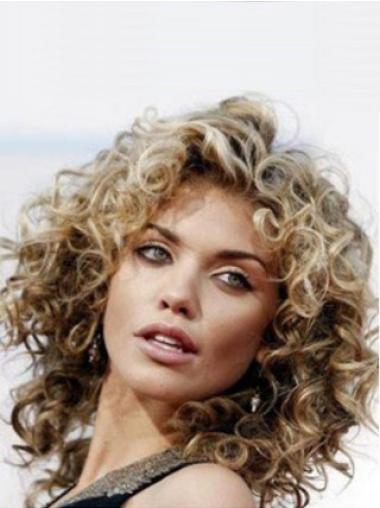 Monofilament Brown Curly Unique Lace Front Wigs